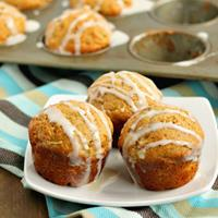 Apple Rhubarb Cinnamon Muffins
