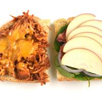 Slow-Cooker Apple Barbecue Chicken Sandwiches