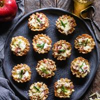 Cheesy Apple & Bacon Phyllo Cup Appetizers
