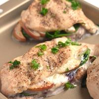 White Cheddar, Apple and Cranberry Stuffed Chicken