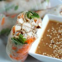 Chicken & Apple Spring Rolls make a flavorful and unique meal!