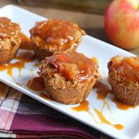 Oatmeal Cookie Cups with Caramel Apple Pie Filling