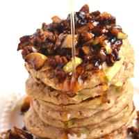 Cinnamon Pecan Apple Pancakes