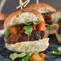 Pork Tenderloin Sliders with Spiced Apple Compote