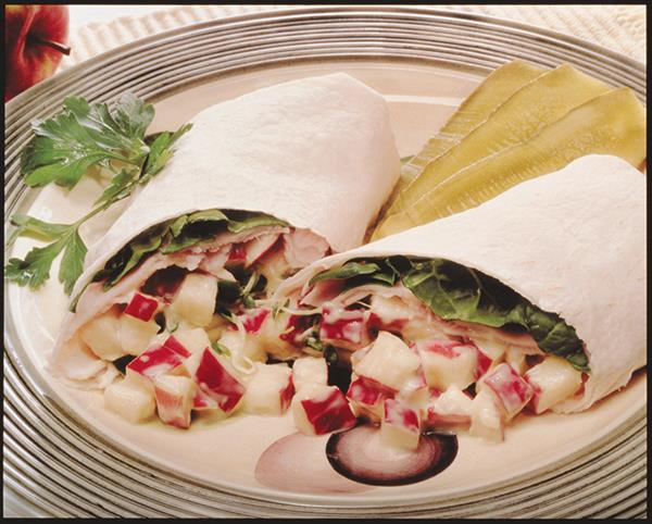 Apple Turkey Wraps