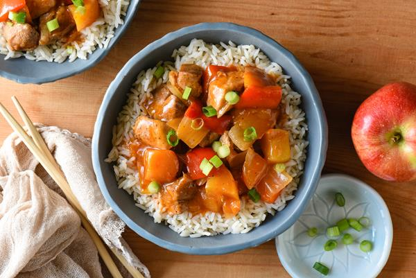 Sweet and Sour Pork with Apples