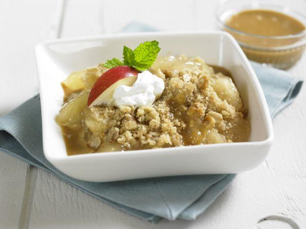 Apple Cinnamon Crumble with Dulce De Leche