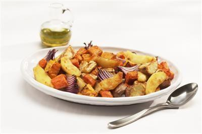 Apples Roasted with Root Vegetables