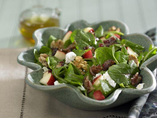 Apple Salad with Candied Bacon and Goat Cheese