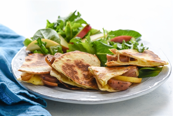 Apple & Sausage Quesadillas
