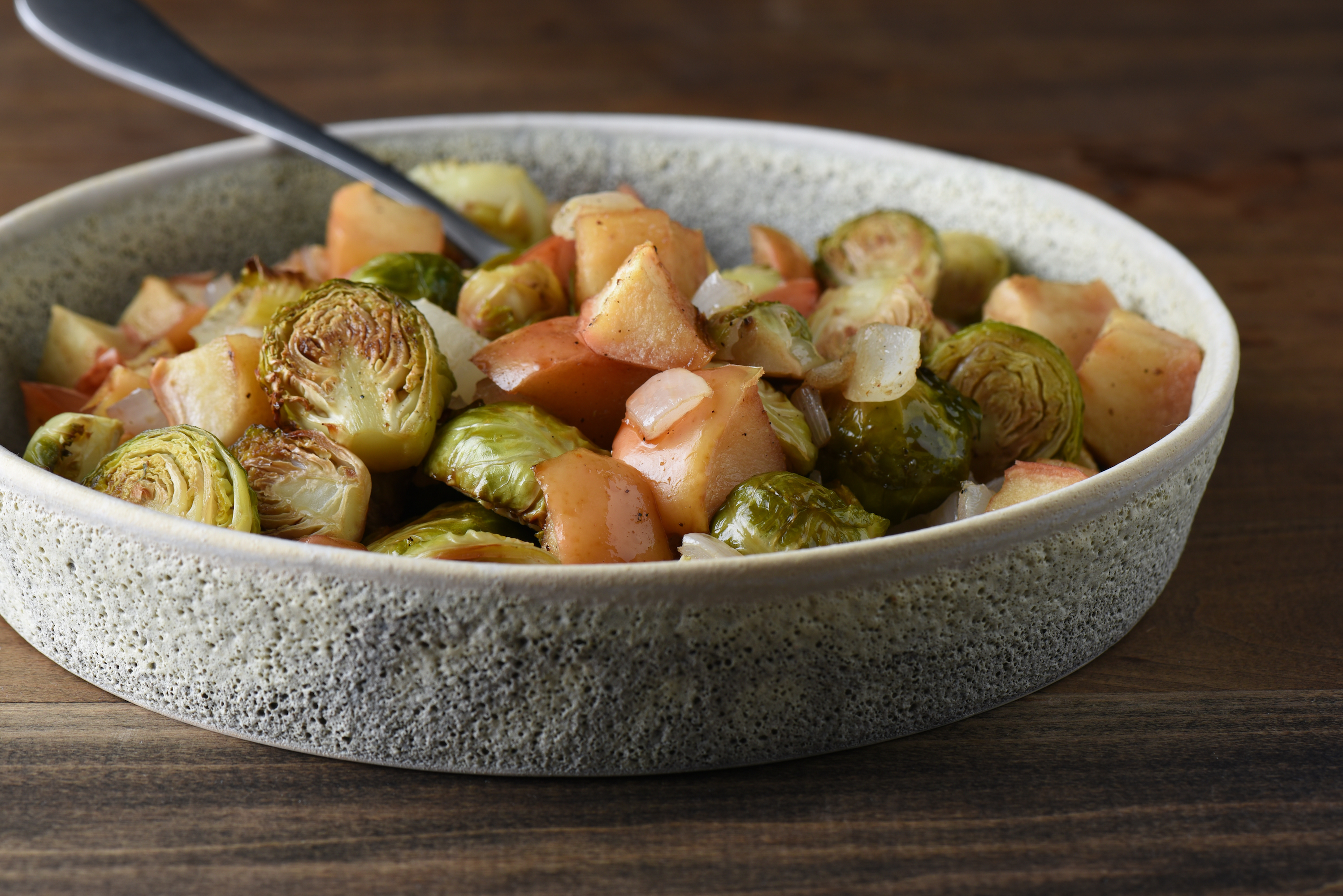 Roasted Apples & Brussels Sprouts