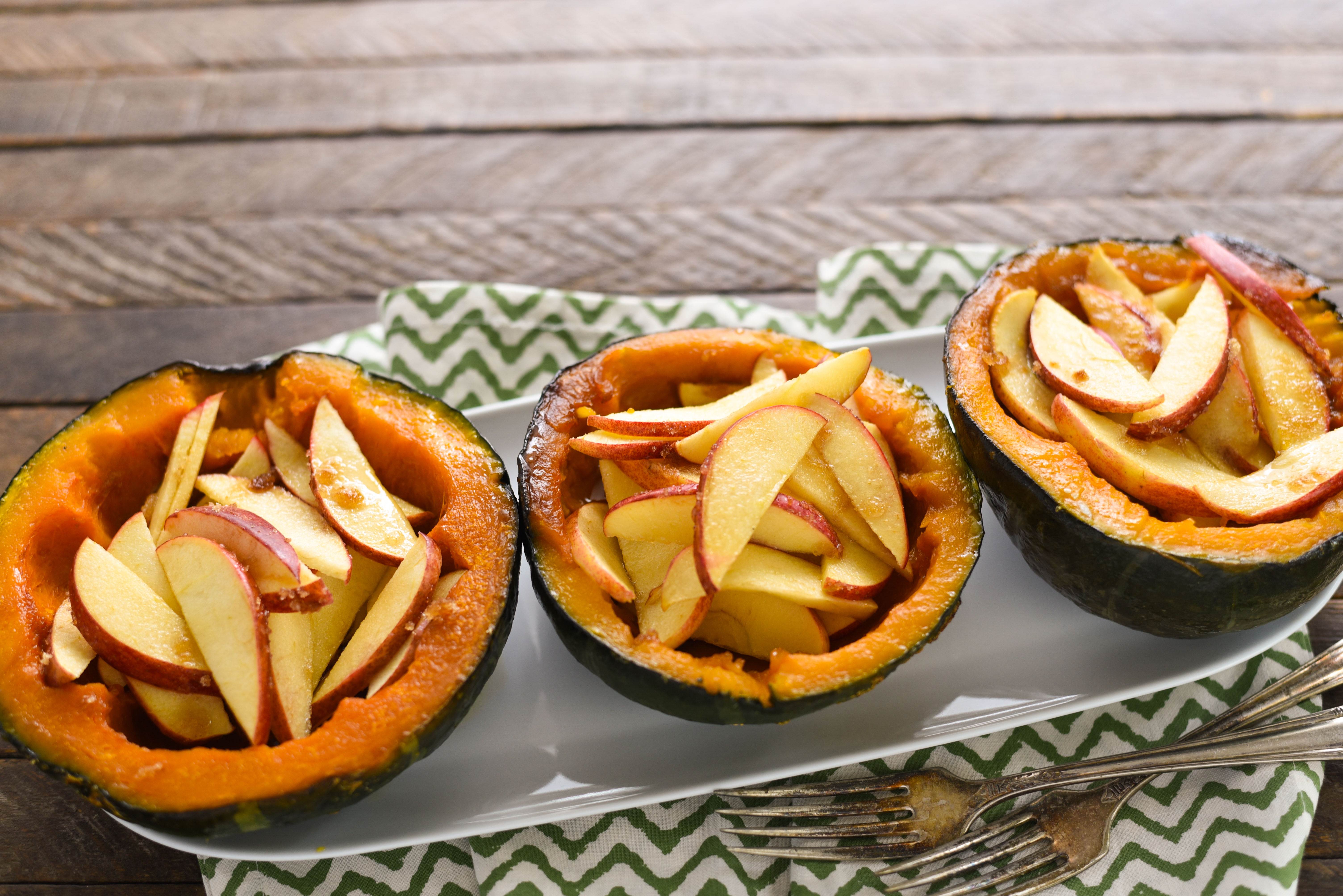 Baked Squash with Apples