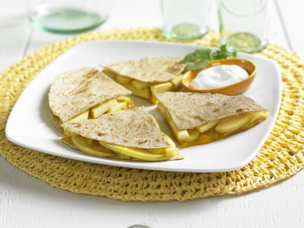 Caramelized Apple and Cheese Quesadillas