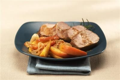 Roasted Pork Tenderloin with Mustard Apple Relish