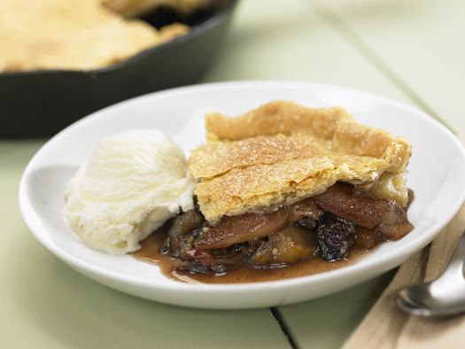 Skillet Apple-Cherry Pie