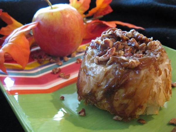 Topsy-Turvy Salted Caramel Apple Dumplings