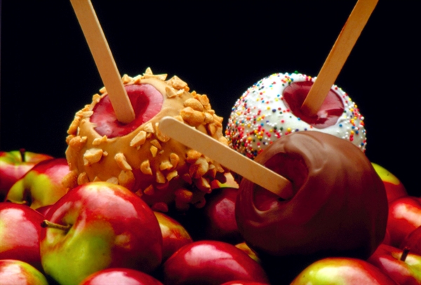 Candy-coated apples