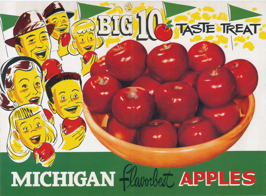 Michigan Apples Big 10 Poster