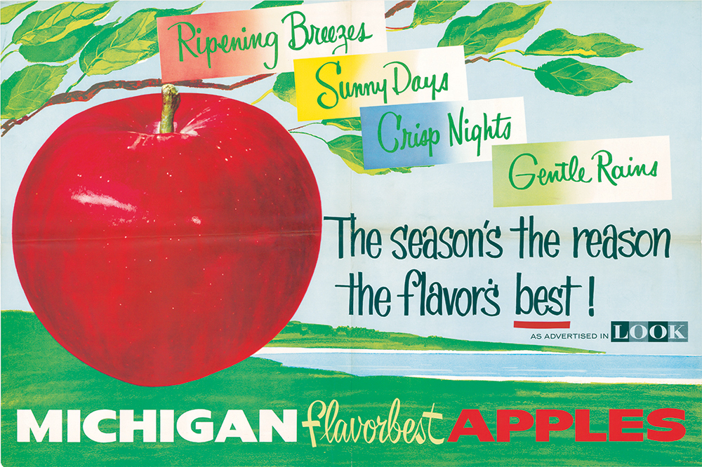 Michigan Apple History Flavorbest Poster