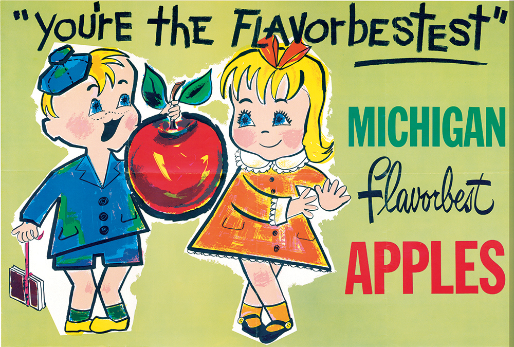 Michigan Apple History Poster